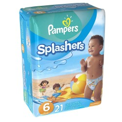 Pampers - Pack 21 Couches de bains Swimming Pants Splachers taille 6