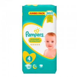 Pampers - Pack 54 Couches New Baby - Premium Protection taille 4