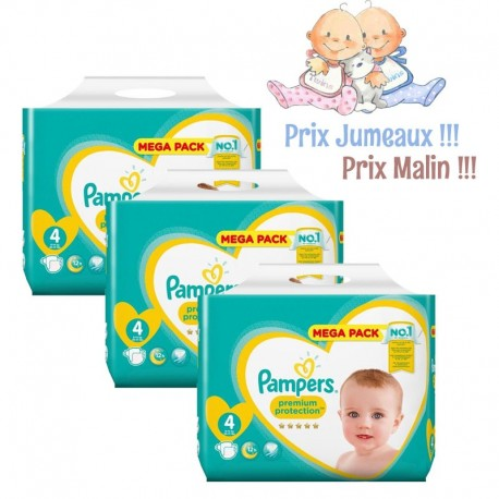 Pampers - Pack Jumeaux 468 Couches New Baby - Premium Protection taille 4 sur Les Couches