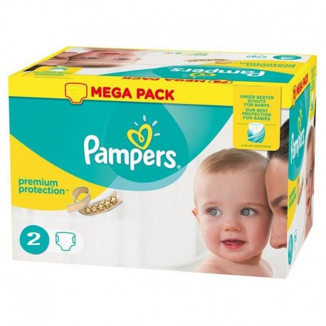 Pampers - Pack 240 Couches New Baby - Premium Protection taille 2 sur Les Couches