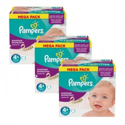 Pampers - Giga Pack 186 Couches Active Fit taille 4+