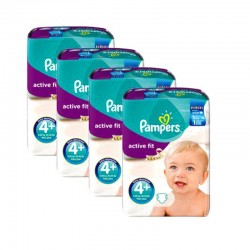 Pampers - Mega Pack 248 Couches Active Fit taille 4+ sur Les Couches