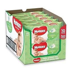 Huggies - 560 Lingettes Bébés Natural Care sur Les Couches