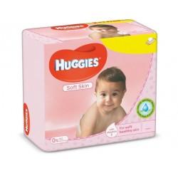 Huggies - 560 Lingettes Bébés Soft Skin sur Les Couches