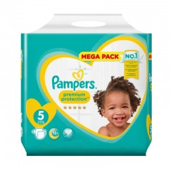 Pampers - Pack 35 Couches New Baby taille 5 sur Les Couches