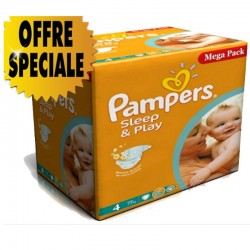 Pampers - Maxi Giga Pack 432 Couches Sleep & Play taille 4