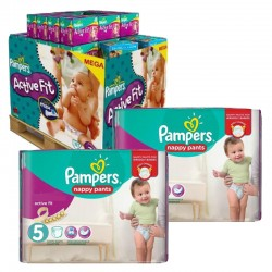 Pampers - Maxi Giga Pack 630 Couches Active Fit - Pants taille 5 sur Les Couches