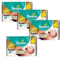 Pampers - Maxi Giga Pack 266 Couches New Baby - Premium Care taille 2
