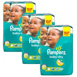 Pampers - Giga Pack 168 Couches Baby Dry taille 5+