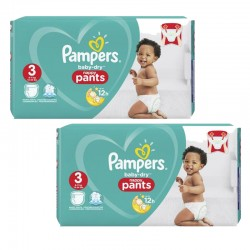 Pampers - Maxi Pack 160 Couches Baby Dry Pants taille 3