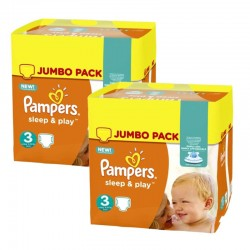 Pampers - Maxi Pack 410 Couches Sleep & Play taille 3