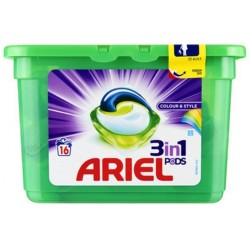 Ariel Pods 16 Colour & Style 3in1 (432 gr) sur Les Couches
