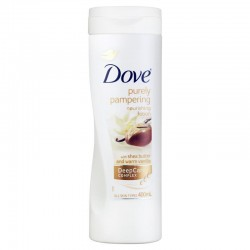 Dove - Lait Corps Purely Pampering Shea Butter & Warm Vanilla sur Les Couches