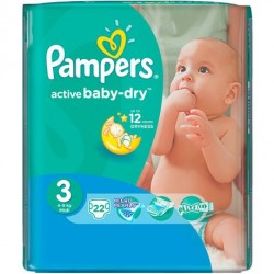 Pampers - Pack 22 Couches Active Baby Dry taille 3