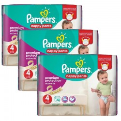 Pampers - Maxi Pack 128 Couches Active Fit - Pants taille 4 sur Les Couches