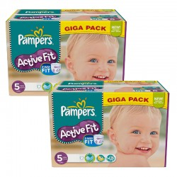 Pampers - Maxi Giga Pack 235 Couches Active Fit taille 5 sur Les Couches