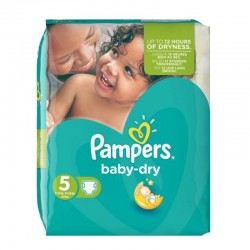 Pampers - Pack 90 Couches Baby Dry taille 5 sur Les Couches