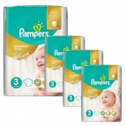 Pampers - Maxi Giga Pack 240 Couches Premium Care - Prima taille 3 sur Les Couches
