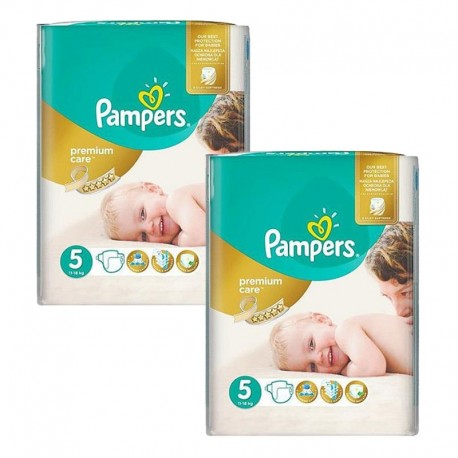 Pampers - Giga Pack 104 Couches Premium Care - Prima taille 5 sur Les Couches