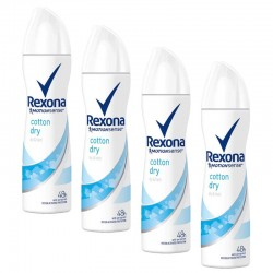 Rexona - Lot 4 Deodorants Motion Sense Cotton Dry sur Les Couches