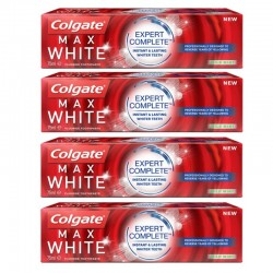 Colgate - Lot 4 Dentifrices Max White Expert Complete Mild Mint sur Les Couches