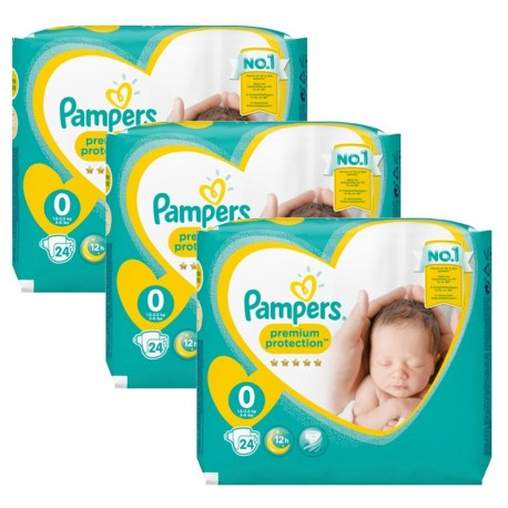 Pampers - Maxi Giga Pack 72 Couches New Baby taille 0 sur Les Couches