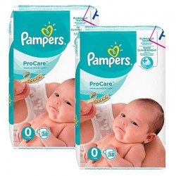 Pampers - Maxi Giga Pack 76 Couches ProCare Premium protection taille 0