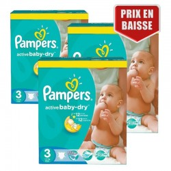 Pampers - Mega Pack 432 Couches Active Baby Dry taille 3