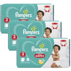 Pampers - Mega Pack 130 Couches Baby Dry Pants taille 3