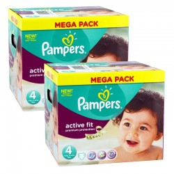 Pampers - Mega Pack 840 Couches Active Fit - Premium Protection taille 4