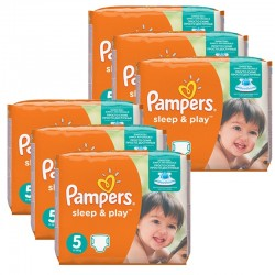 Pampers - Giga Pack 232 Couches Sleep & Play taille 5