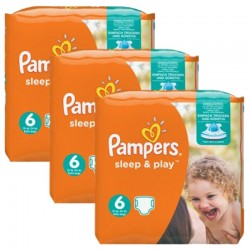 Pampers - Maxi Pack 120 Couches Sleep & Play taille 6