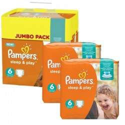 Pampers - Giga Pack 150 Couches Sleep & Play taille 6