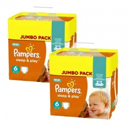 Pampers - Mega Pack 210 Couches Sleep & Play taille 6