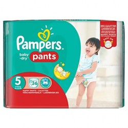 Pampers - Pack 36 Couches Baby Dry Pants taille 5