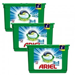 Lot de 3 Ariel Pods 16 Original 3in1 (454,4 gr) sur Les Couches