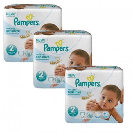 Pampers - 180 Couches New Baby Sensitive taille 2 sur Les Couches