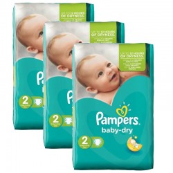 Pampers - 126 Couches Baby Dry taille 2 sur Les Couches
