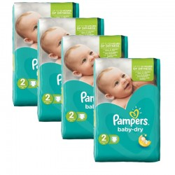Pampers - 168 Couches Baby Dry taille 2 sur Les Couches