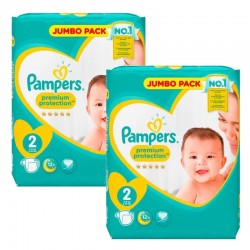 Pampers - 136 Couches new baby - premium protection taille 2