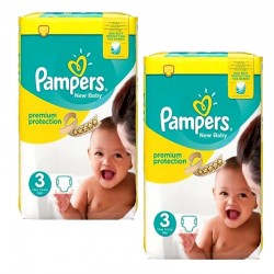 Pampers - 100 Couches premium protection taille 3