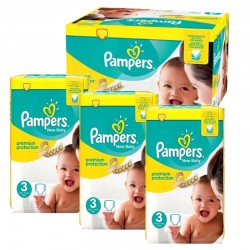Pampers - Maxi Pack 300 Couches premium protection taille 3