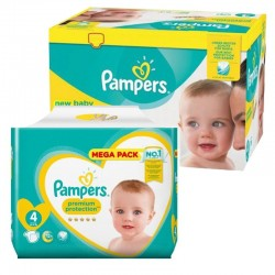 Pampers - Mega Pack 117 Couches new baby - premium protection taille 4 sur Les Couches