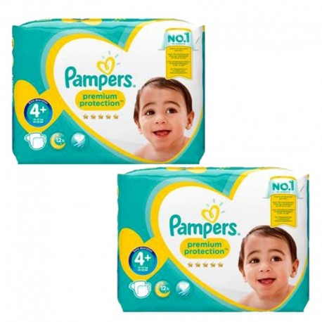 Pampers - Mega Pack 124 Couches new baby - premium protection taille 4+ sur Les Couches