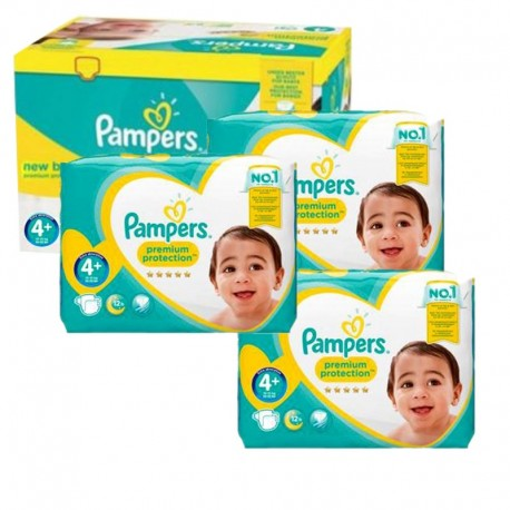 Pampers - Giga Pack 248 Couches new baby - premium protection taille 4+ sur Les Couches