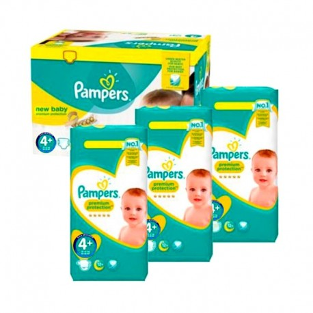 Pampers - Giga Pack 434 Couches new baby - premium protection taille 4+ sur Les Couches