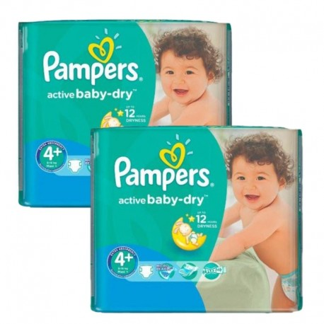 Pampers - Maxi Pack 108 Couches Active Baby Dry taille 4+ sur Les Couches