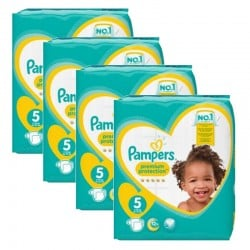 Pampers - Mega Pack 240 Couches new baby - premium protection taille 5