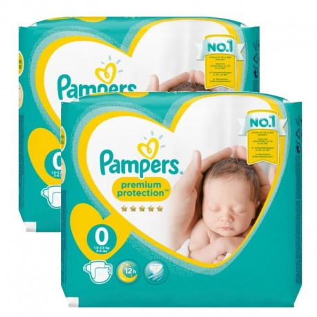 Pampers - Pack 48 Couches new baby - premium protection taille 0 sur Les Couches