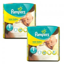 Pampers - Pack 46 Couches new baby - premium protection taille 1